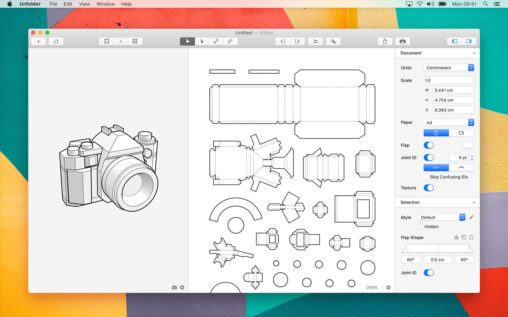 Unfolder 1.10.4 Mac 破解版 3D模型展开工具